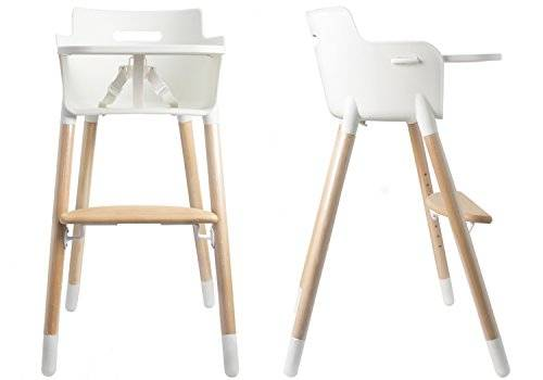 Asunflower Wooden High Chair Adjustable Feeding Baby Highchairs